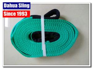 China 10000kg Flat Web Polyester Lifting Slings  Belt With Reinforced Eyes on sale