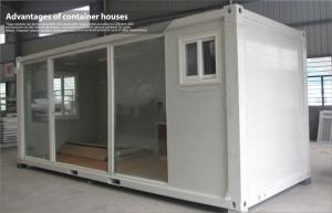 China Prefabricated flat pack container house , commercial portable house with glass door on sale