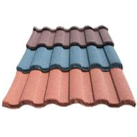 Wave Corrugated Double Roman Roof Tiles / colorful Stone Coated Metal Roofing sheet