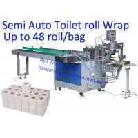 China CE 48 Rolls / Bag Toilet Paper Packaging Machine on sale