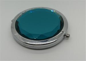 China Crystal Metal Cosmetic Mirror / Pocket Mirror / Compact Mirror For Hair Accessory on sale
