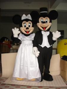 Quality adult mickey minnie mouse disney cartoon wedding costumes of handmade for sale