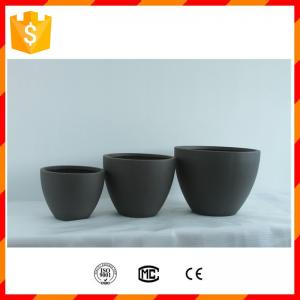 China Light weight home decorative fiberglass clay flower pots with rectangle shape design on sale