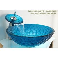 art glass basin, slumped glass basin