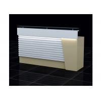 China Wood  And Clear Glass Retail Checkout Counter LED Installed Interior 1500 * 500 * 1150mm on sale