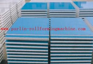 China Automatic EPS and Rock Wool Sandwich Panel Roll Forming Machine High Speed and Durable on sale