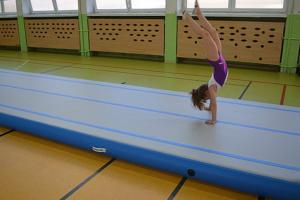 China Size Customized Gymnastics Air Mat , Inflatable Air Tumble Track / Sport Activities on sale