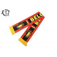 China Belgium Custom Winter Soccer Team Scarves , Fleece Printed Football Scarves on sale