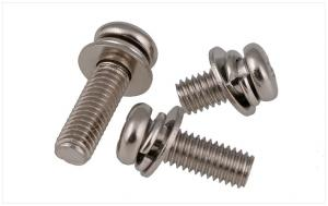 China Stainless Steel Pan Head Screws with Flat and Split Lock Washer Pan Head SEMS Screws on sale