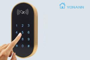 China 304 Stainless Steel Digital Keypad RFID Cabinet Lock Touch Keypad Password Locker Lock on sale