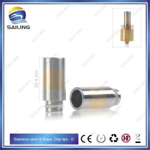 China Sailing HOT upgraded wide bore Stainles ssteel series ecig drip tips copper/brass/pyrex tube on sale