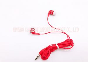 China Stereo Red Bass In Ear Headphones / Extreme Bass Headphones 3.5 Mm Connectors on sale