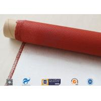 China 750 Degree Silicone Coated Fiberglass Cloth Heat Protection Fireproof Covers on sale