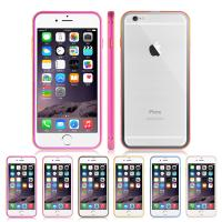 China Aluminum Metal Bumper / Glass Clear Back Protective Cell Phone Cover For iPhone 6 on sale