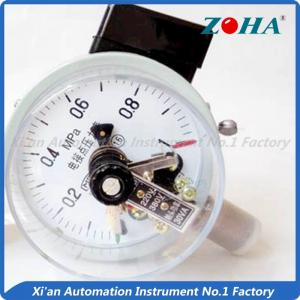 China Bottom Electric Water Pressure Gauge / 30VA Electric Contact Manometer on sale