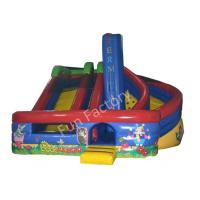 Outside Garden Inflatable Dry Slide Kids Huge with Bouncer YKK Zipper