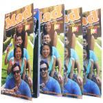 Custom Glue Binding embossing brown kraft paper booklet printing / Color Booklet Printing
