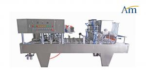 China 2/4/6/8 Heads Semi Auto Cup Filling Machine Jelly Yogurt Fruit Juice Soya Milk Packing on sale