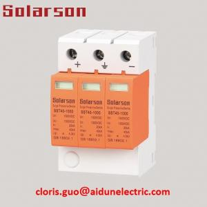 China 1500V DC SPD Surge Protective Device Surge Protector Type II 3P for Solar System on sale