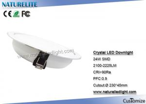 China Crystal 24W LED Downlight LED Down Lights For Living  /  Bed Room on sale