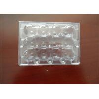 Middle Split PE Hard Plastic Egg Cartons Without Cracking And Crashing