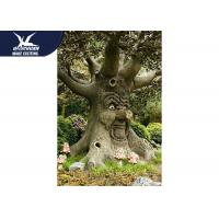 Durable Funny Animatronic Talking Tree In Zoo Parks Customized Size