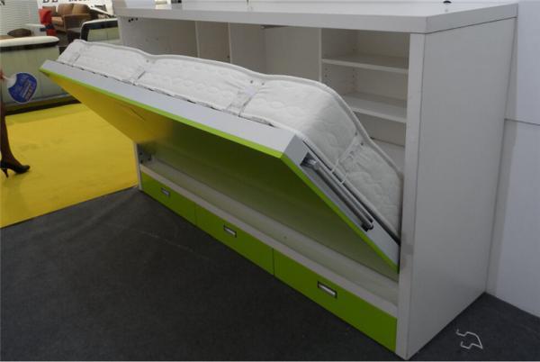 E1 MDF Single Murphy Wall Bed Horizontal Modern Hidden Wall Bed Images