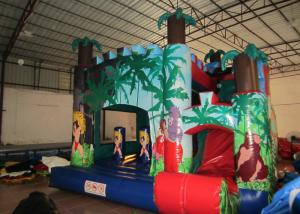 China Classic inflatable palm trees jump house PVC inflatable jumping combo for sale inflatable bounccer for renting on sale