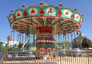 China Colorful Amusement Park Swing Ride Outdoor Flying Chair Ride ISO9001 Approved on sale