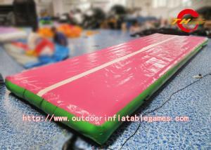 China Piso de la caída/pista de aire inflables al aire libre de la estera del gimnasio para el tamaño modificado para requisitos particulares que cae on sale