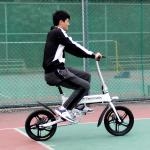 Center Shock Absorbed Electric Folding Bike Lightweight , Fold Up Bicycle 250W 16 Inch