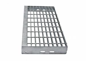 China Heavy Galvanized Steel Steps , Exterior Thickness 30x3mm Safety Grating Stair Treads on sale
