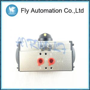 China Air Torque Double / Single Acting Pneumatic Rotary Actuators 1/4 1/2 1 Size Aluminum AT105 Series on sale