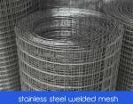malla de alambre soldada con autógena del acero inoxidable con la abertura 25m m