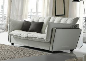 Quality Fabric White Modular Corner Sofa 2 Seats For Living Room , Leisure style fabric for sale