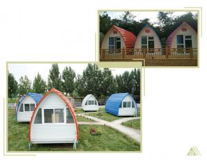 China Low Cost Color Coated Steel Structure Arch House Prefab Building House Bedroom For  Farm camping warehosue storage shop on sale