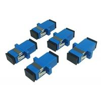 Blue Color Fiber Optic Connector Adapters High Measurement Repeatability With Ear