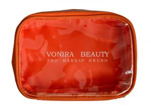 China PVC Transparent Makeup Brush Bag Clear Toiletry Bag For Women on sale