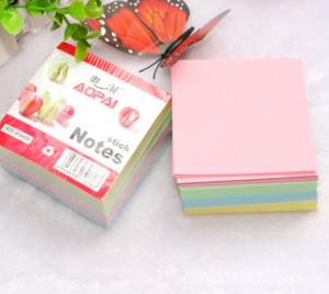 China sticky notes pad self adhesive memo pads stick notes paper notes on sale