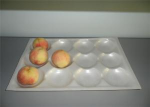 China Fresh Peaches Plastic Blister Packaging Tray , Custom Design Flat Plastic Trays on sale