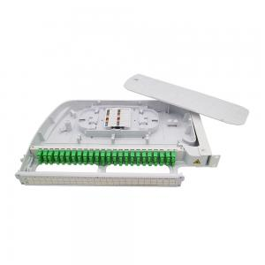 China Rack Mounted 19 Rotary 24 Port ODF Fiber Optic Patch Panel on sale
