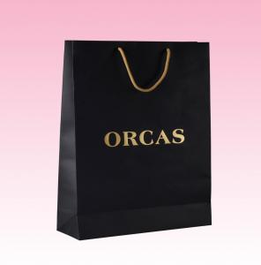 China custom black paper merchandise bags printing wholesale manufacturer on sale