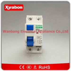 China ID model 40 amp 30mA RCD ELCB RCCB trip circuit breaker double pole 40A DP 240V on sale