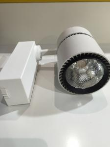 China White Dimmable Led Track Lighting Fixtures With 2 / 3 Phase Track Adaptor on sale