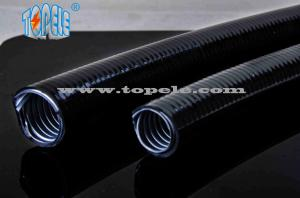 China corrugated flexible conduit Grey / Black PVC Coated Electrical Galvanized Steel Flexible Pipe on sale