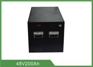 China Industrial Forklift Batteries 48V 200AH , Forklift Truck Batteries With LCD / Buzz on sale