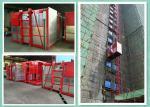 Elevador material del alzamiento de la construcción de la elevación de los constructores del alzamiento del pasajero, de estante y del piñón