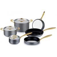 Wonderful Hard Anodized Aluminium cookware set/kitchenware set/pots and pans with glass lid