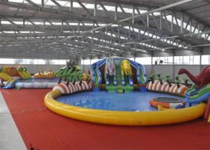 China Giant Outdoor Play Equipment Amazing Inflatable Water Park For Kids on sale