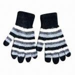 Se aceptan los logotipos de nylon de los guantes de la pluma, cómodos, modificado para requisitos particulares, la etiqueta y los colores